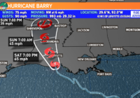 FORECAST: Hurricane Barry and Afternoon Storms