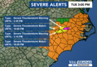 Much of the Triangle under severe weather threat as front moves through