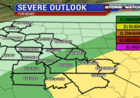 Rare cold front brings threat of severe weather
