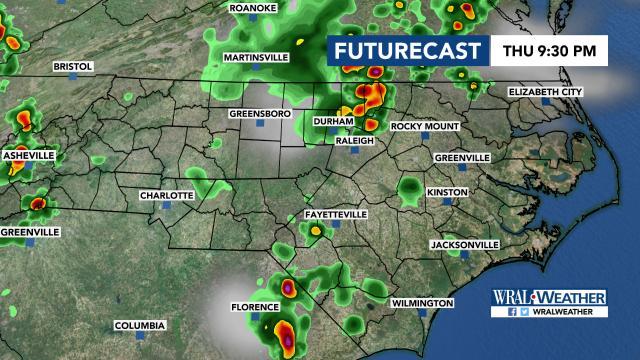 Futurecast: Thursday night storms