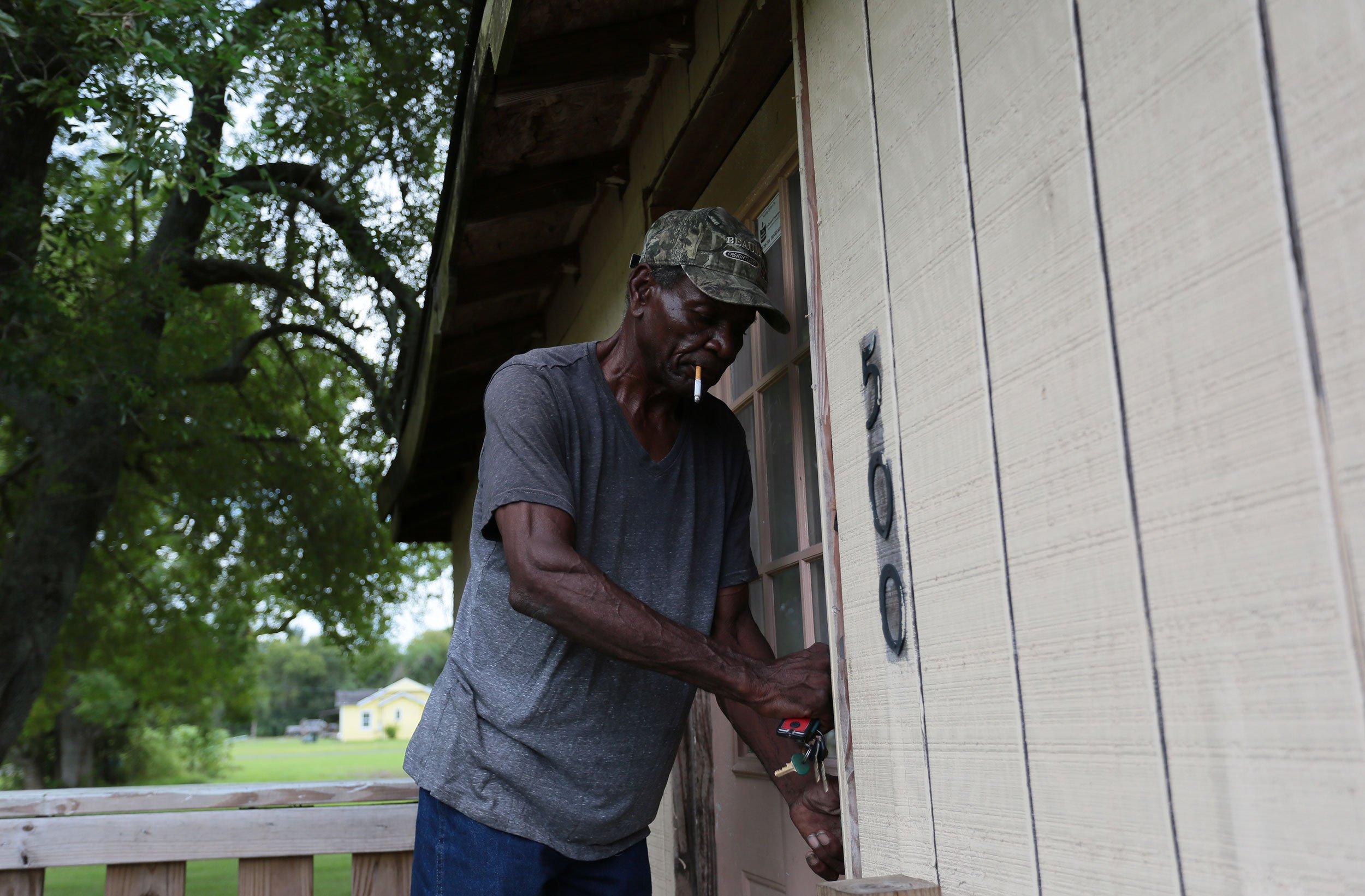 Henry Wilson's house in Port Arthur's Montrose neighborhood is still uninhabitable.