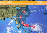 Hurricane Dorian now with 150 mph sustained winds