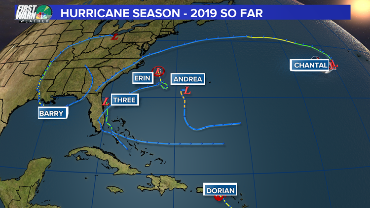2019 hurricane season map