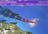 Tropical Storm Dorian forms in Atlantic