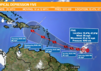 Tropical Depression Five forms as peak of hurricane season approaches