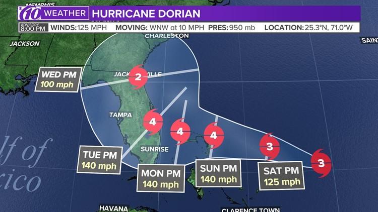 Dorian Cat 4 8-30-19