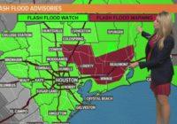 Houston Forecast: Flash flood watch through 7 PM