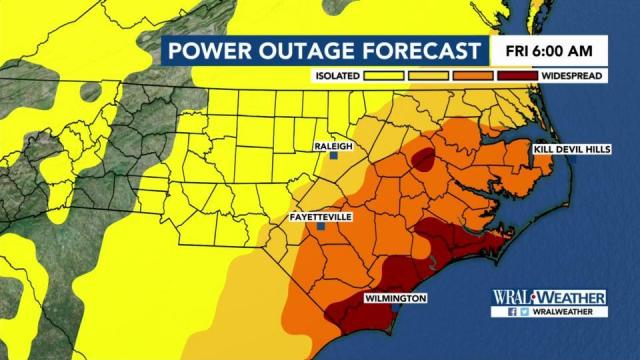 Potential for power outages