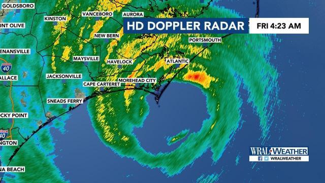 4 a.m. update: Hurricane Dorian ramps up on NC coast