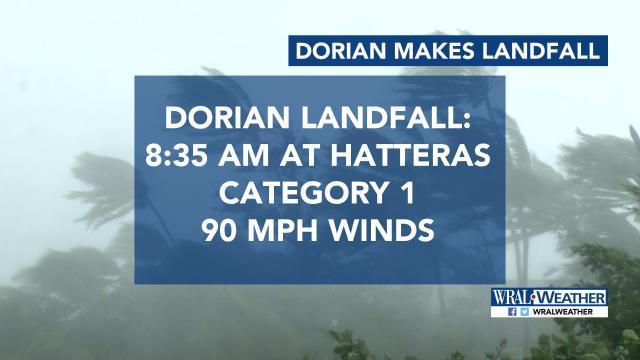 Hurricane Dorian makes landfall