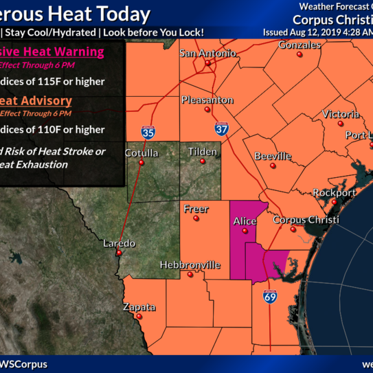 Heat advisory: This is how dangerous heat conditions could get for South Texas