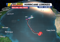 Spaghetti models for Tropical Storm Karen & Hurricane Lorenzo are just 1 tool for forecasting their paths
