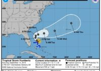 Tropical storm Humberto moving out to sea, won't reach ILM