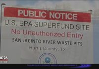 Superfund site struck by loose barge
