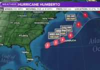 Hurricane Jerry packing winds up to 100 mph, Humberto becomes Post-Tropical Cyclone