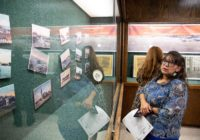 Exhibit at Nueces County Courthouse show Corpus Christi before and after 1919 hurricane