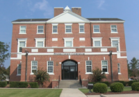 Evidence from Hurricane Florence still remains inside Pender courthouse