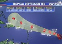 Tropical Depression 10 forms in Atlantic