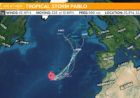 Tropical Storm Pablo forms in the Atlantic Ocean