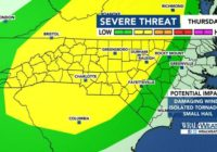 Triangle under level 3 risk for severe weather Halloween night