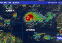 Tracking the tropics: Hurricane Lorenzo will head toward England