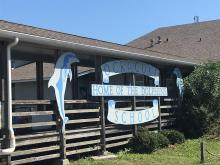 Ocracoke School, home of the dolphins