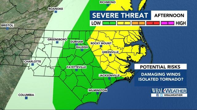 Chance for severe weather on Sunday