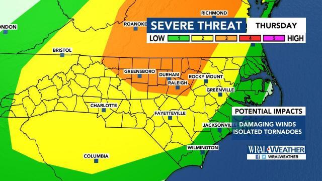 Severe weather threat on Halloween