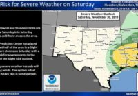 Cold front moves into Houston bringing showers and possible tornadoes