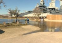 Battleship North Carolina closes due to tidal flooding