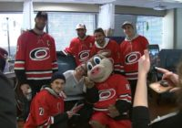 Carolina Hurricanes spread cheer with sick patients, help students shop for Christmas