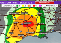 Timeline: Severe weather threat Friday night