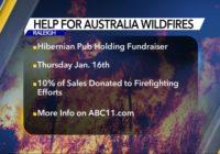 Hibernian Pub holding fundraiser for firefighters battling Australia wildfires