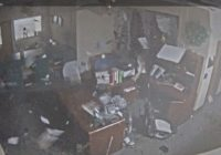 Security cam shows tornado rip up North Central High School