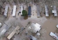 Soggy neighborhoods under flash-flood warning in Mississippi
