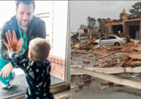 Arkansas tornado destroys home of doctor whose touching photo with 1-year-old son went viral