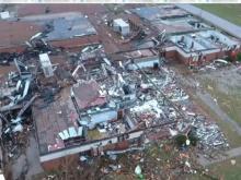Tornado damage in Nashville