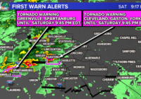 Live: Second tornado warning issued for Charlotte and Mecklenburg County