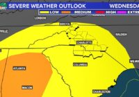 Severe weather possible across Charlotte area late Wednesday night
