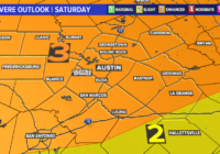 Severe storms possible overnight, tornado watch for parts of Central Texas until 4 a.m.