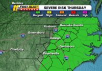 Slow-moving line of thunderstorms could bring localized flooding Thursday morning