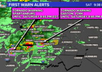 Live: Tornado warnings in Mecklenburg, Cabarrus, and York counties.