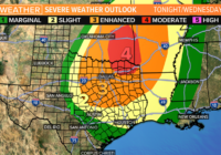 Severe weather possible in parts of South Texas Wednesday morning