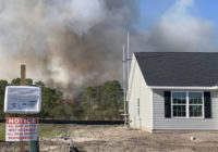 Crews work to control multi-acre wildfire in New Hanover County