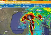 Watch Live: Tropical Storm Cristobal is making landfall along the Gulf Coast today
