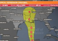 Cristobal downgraded but is expected to become a tropical storm again in the Gulf of Mexico