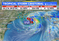 TROPICAL UPDATE: Tropical Storm Cristobal makes landfall in Louisiana