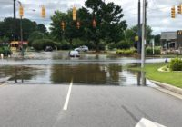 Creeks swell, dam breaks in northeastern NC, flooding roads, businesses, homes