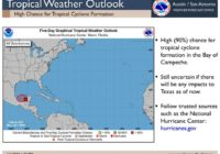 Tropical disturbance likely to develop in Gulf of Mexico to begin official start of hurricane season