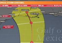 Tropical Storm Cristobal's US landfall expected in Louisiana, but Texas isn't totally in the clear